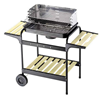 BARBECUE 1R+2MEN.58X38X90H P.INOX
